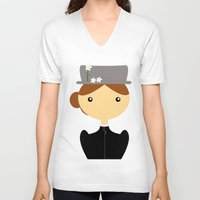 mary poppins V-neck T-shirts featuring Mary Poppins by Creo tu mundo