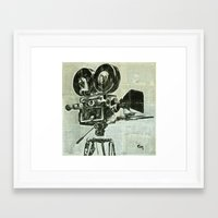 cinema Framed Art Prints featuring Cinema. by Marat Cherny