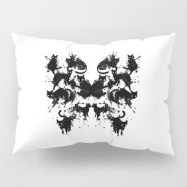Rorschach Test Cat's On My Mind Pillow Sham