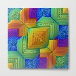 Color Patchwork Metal Print