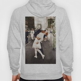 The Kiss,VJ Day, WWII Hoody