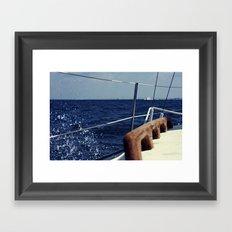 Waves Breaking to Windward Framed Art Print
