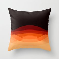 Dark Orange Ombre Throw Pillow