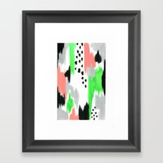 Green Pattern Framed Art Print