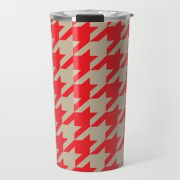 Houndstooth (Brown and Red) Travel Mug