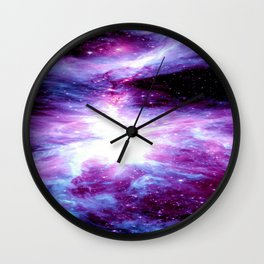 Orion Nebula Purple Periwinkle Blue Galaxy Wall Clock