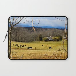 Cattle ranch overlooking the Blue Ridge Mountains Laptop Sleeve
