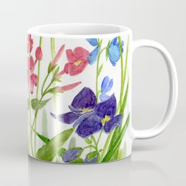 Garden Flowers Botanical Floral Watercolor on Paper Coffee Mug