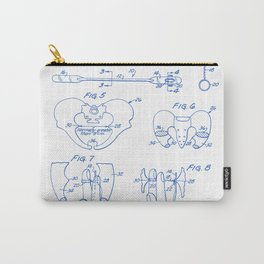 Pelvic Measuring Device Vintage Patent Hand Drawing Carry-All Pouch