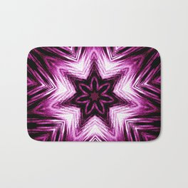 Bright Dark Violet Wine Red Abstract Blossom #purple #kaleidoscope Bath Mat