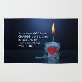 God Changes Hearts Rug