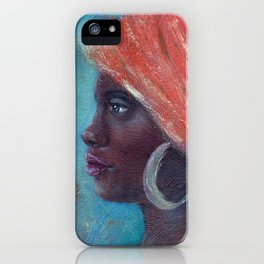 Noble Strength African Woman iPhone Case