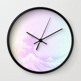 Great Vaporwave Off Kanagawa Wall Clock