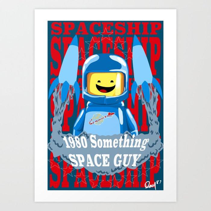 1980 something space guy Art Print