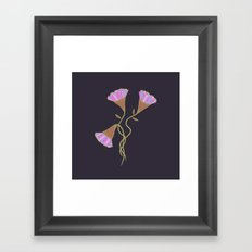 Purple Flora Framed Art Print