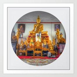 Buddha Shrine (Circle) Art Print