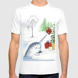 Christmas Narwhal T-shirt