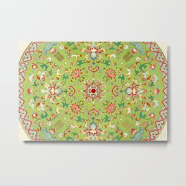 Green Floral Metal Print