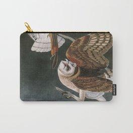 Barn Owls, the Birds of America by John James Audubon Carry-All Pouch