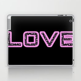 [Glittered Outline Effect Variant] Love's Simple [Black Background] Laptop & iPad Skin