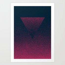 OMBRE / raspberry Art Print