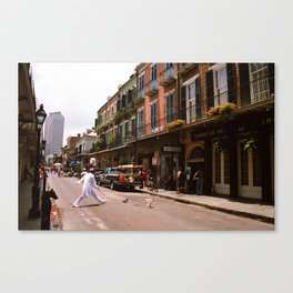 New Orleans Street Performer 2004 Canvas Print