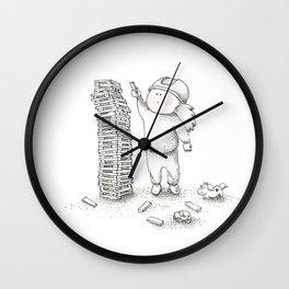 BUILD | Inktober illustration Wall Clock