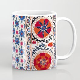 Kermina Nim Suzani  Antique Uzbekistan Rug Coffee Mug