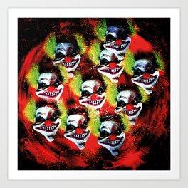 Halloween Horrorclown Collage Art Print