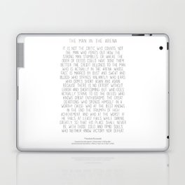 The Man In The Arena by Theodore Roosevelt 2 #minimalism Laptop & iPad Skin
