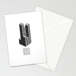 Magic square of Saturn in 3D / Talisman Stationery Cards