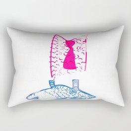 Pink Suit, Blue Dress  Rectangular Pillow
