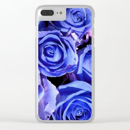 Blue Roses for You Clear iPhone Case