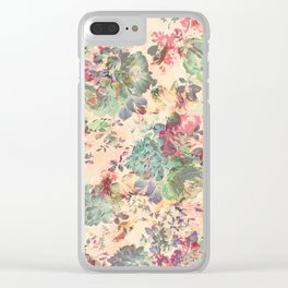 Flower Abstraction Clear iPhone Case