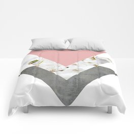 Blossoms Arrows Collage Comforters