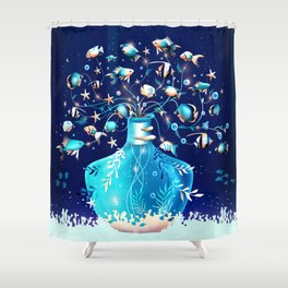 Fish Plant Shower Curtain