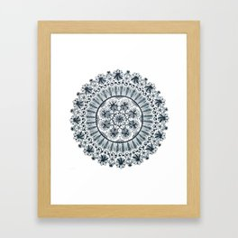 Awaken Nature Mandala Framed Art Print