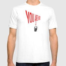 You Are Here Mens Fitted Tee MEDIUM White