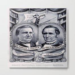 Vintage poster - 1876 Democratic Banner Metal Print