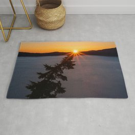 Sunset Tree Top Rug