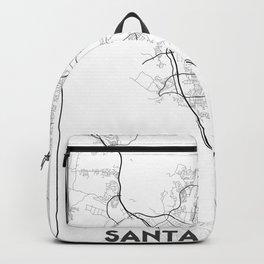 Minimal City Maps - Map Of Santa Clarita, California, United States Backpack