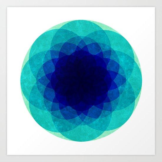 psychedelic flower [Circle Week] Art Print
