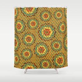 Colorful lace Mandalas pattern Shower Curtain