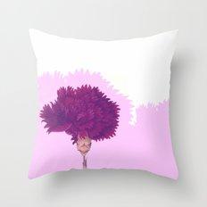 purple carnation Throw Pillow
