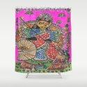 Madhubani - Pink Durga by studio324