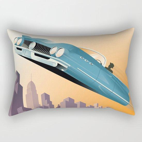 Dude, Where's My Flying Car? Rectangular Pillow