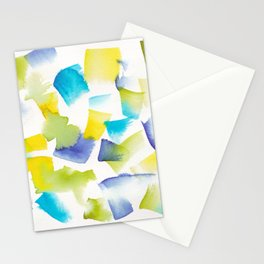 180719 Koh-I-Noor Watercolour Abstract 36| Watercolor Brush Strokes Stationery Cards
