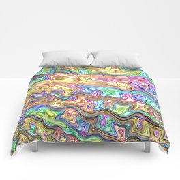 Liquid Rainbow Comforters