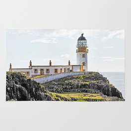 Lighthouse at Neast Point, Isle of Skye, Scotland Rug
