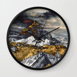 Gold Mountain Wall Clock